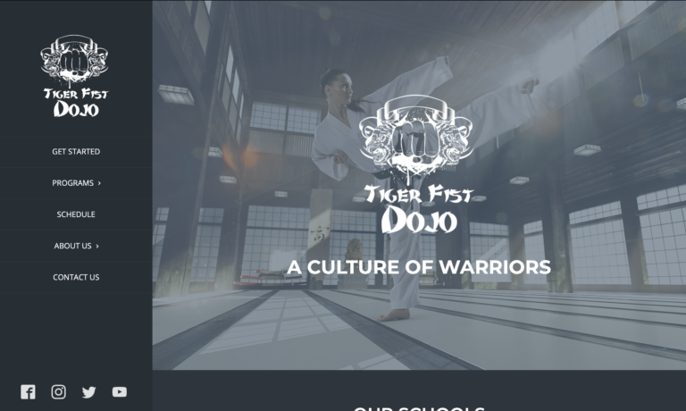 martial arts website design theme #5