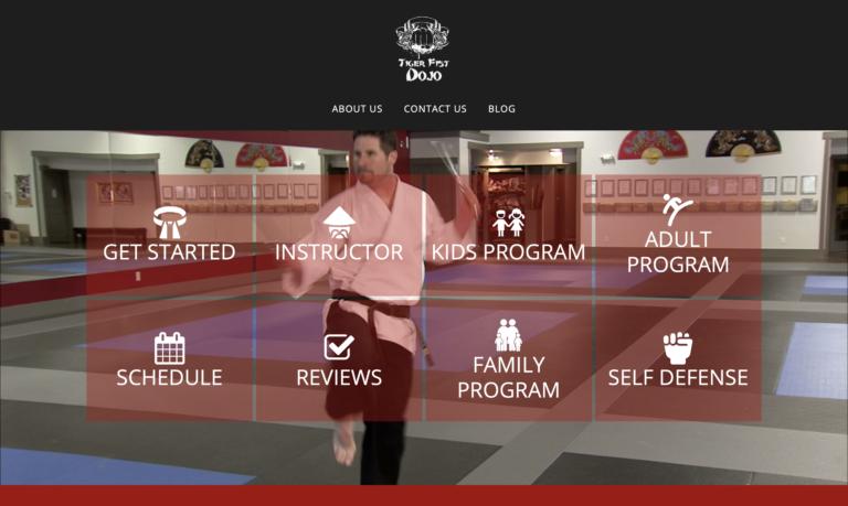 martial arts website theme #3