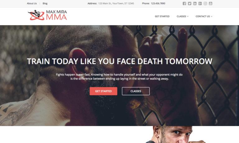 mma website theme #1