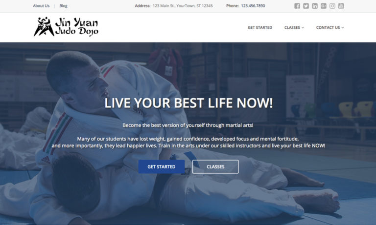 judo website theme #1